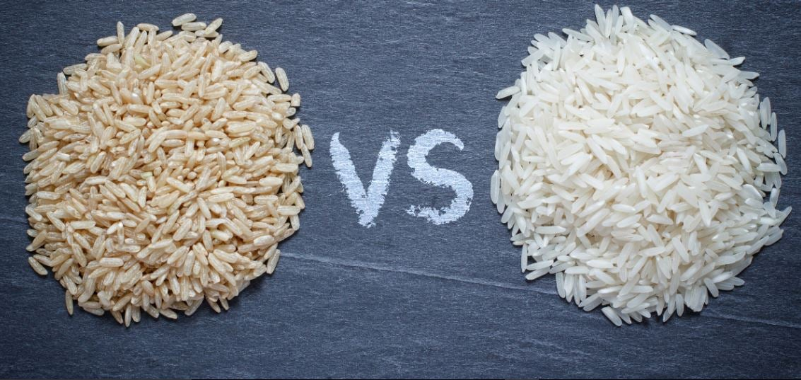 Diferencias del arroz blanco e integral