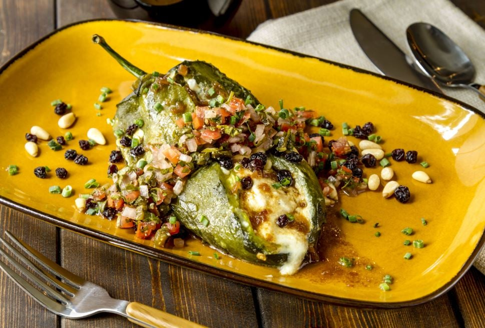 Chiles rellenos.