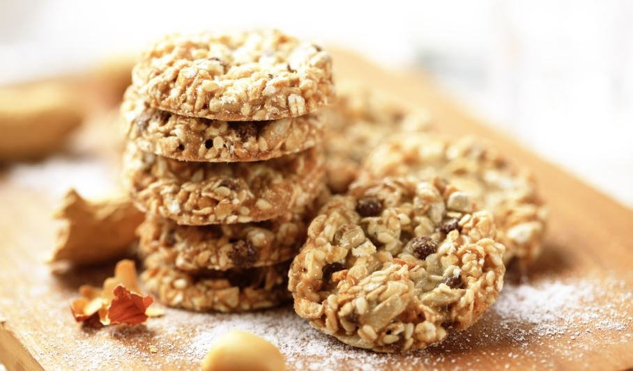 Galletas de avena y frutos secos.