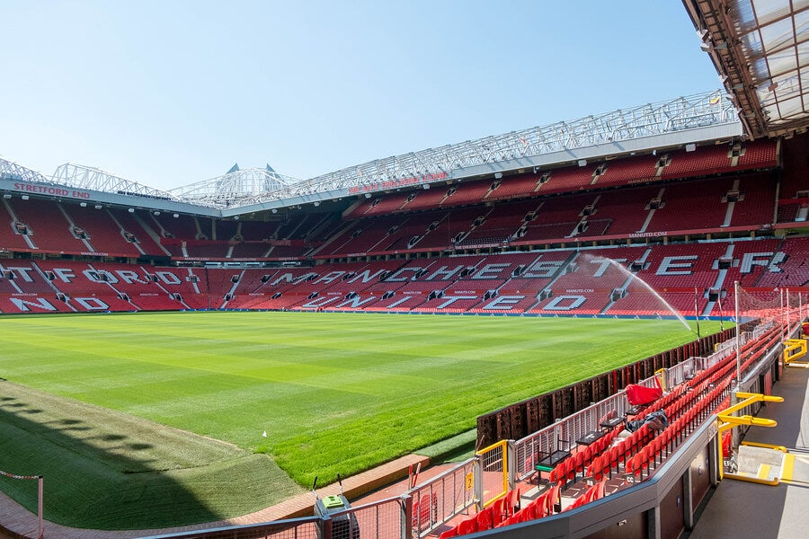 Old Trafford, el estadio de Manchester United.