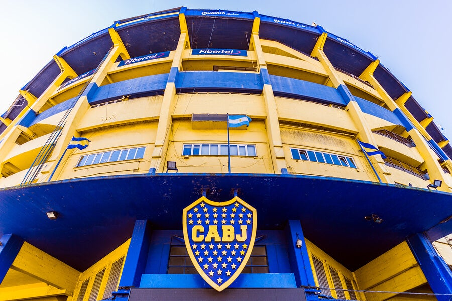 La Bombonera, el estadio del Boca Juniors.