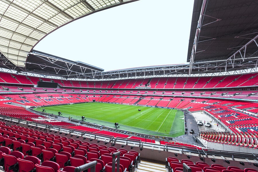 El Estadio de Wembley, ubicado en Londres.