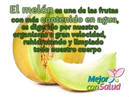 El melón, una de las frutas con más contenido de agua
