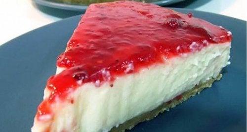 Recetas de tartas caseras de queso con frambuesa