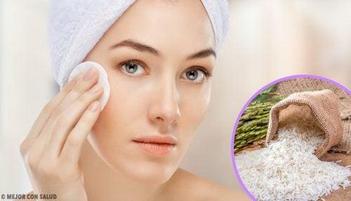 Tratamiento casero para la piel a base de arroz
