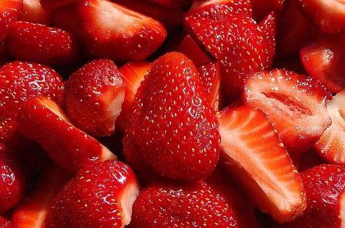fresas para saciar la ansiedad por lo dulce