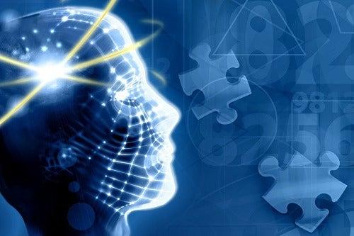 Gráfica que muestra un cerebro activo