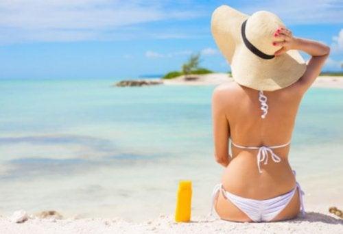 broncearse para la playa