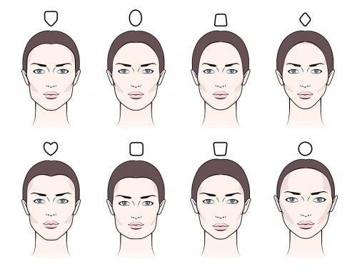 La forma de las cejas según el tipo de rostro.