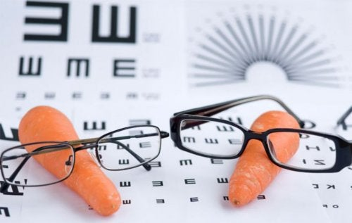 Zanahorias con gafas.