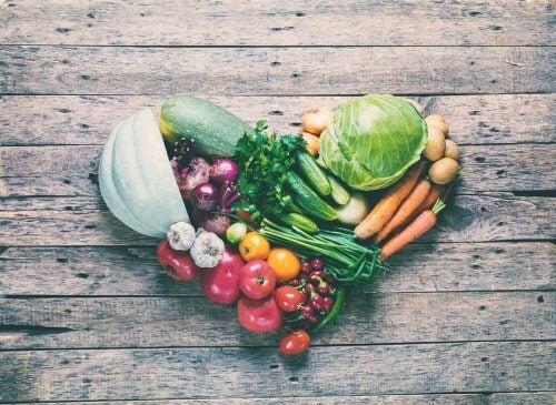 Vegetales en forma de corazón