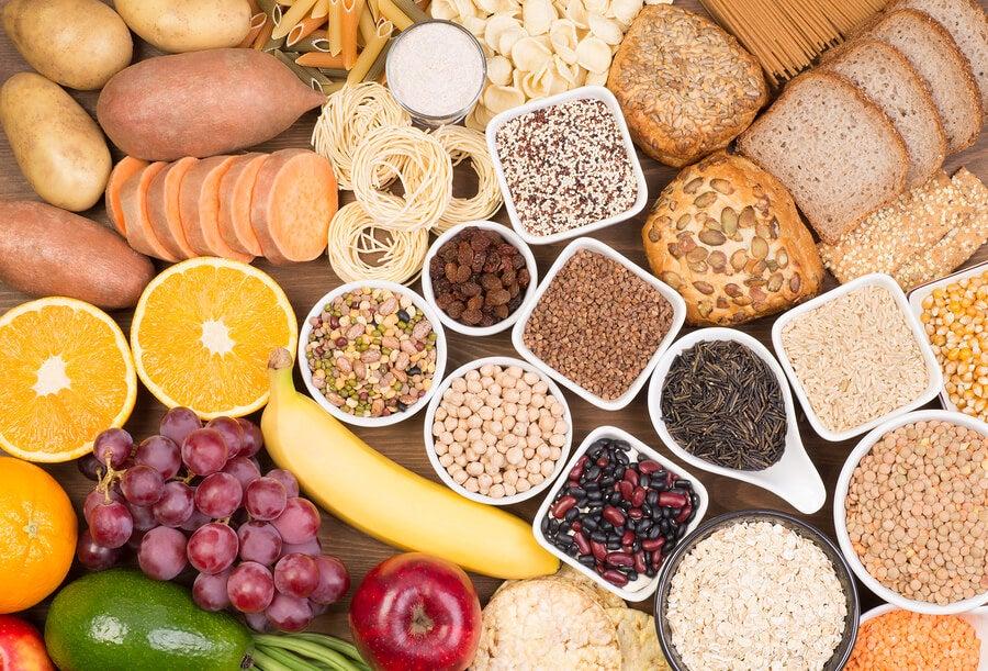Alimentos que son ricos en carbohidratos.