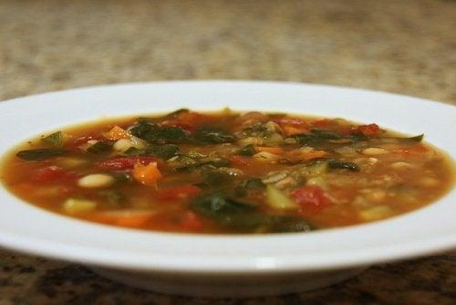 Receta de la sopa de verduras para adelgazar