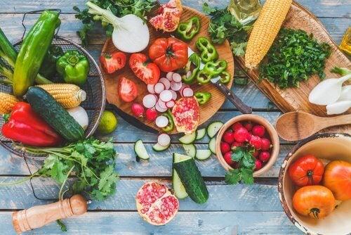 Frutas y verduras para no engordar en verano