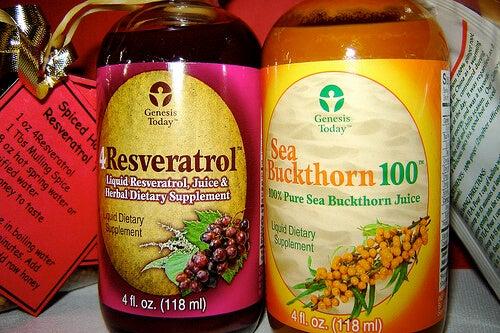 Botellas de resveratrol