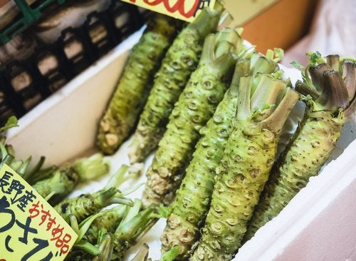 wasabi en un suèrmercado