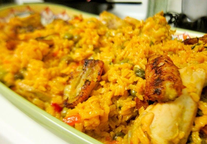 Receta de arroz con pollo.