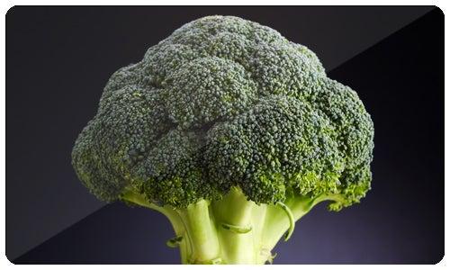 El brócoli tiene un alto contenido en vitamina C y fibra alimentaria; también contiene múltiples nutrientes con potentes propiedades anti-cancerígenas.