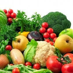 Variedad de frutas y vegetales