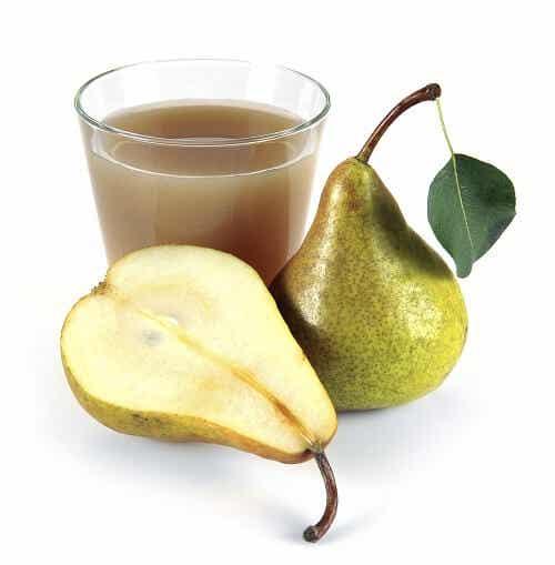 Propiedades del zumo de peras