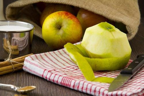 Manzana piel