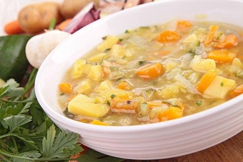 Sopa para la gastroenteritis