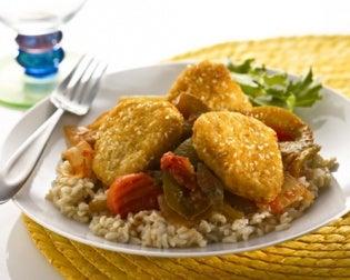 Se pueden hacer nuggets vegetarianos con carne de soja.
