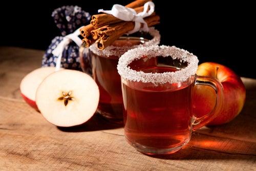 Té de manzana y canela