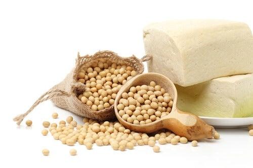 Granos de soja.
