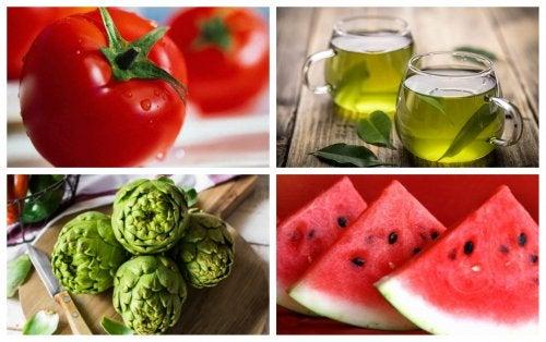 Alimentos con propiedades diuréticas para desinflamar