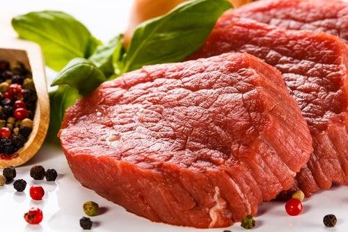 Carne roja. lomo con mostaza y azúcar moreno
