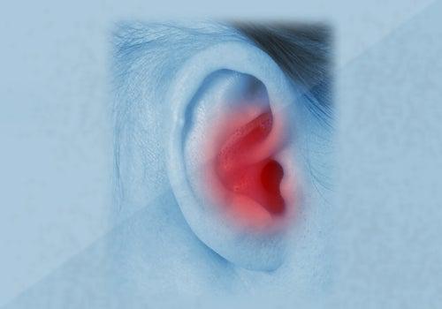 Les ganglions dans les oreilles.