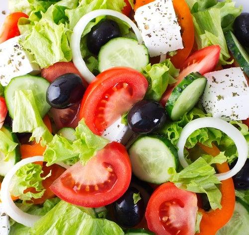 Ensalada de verduras para dieta