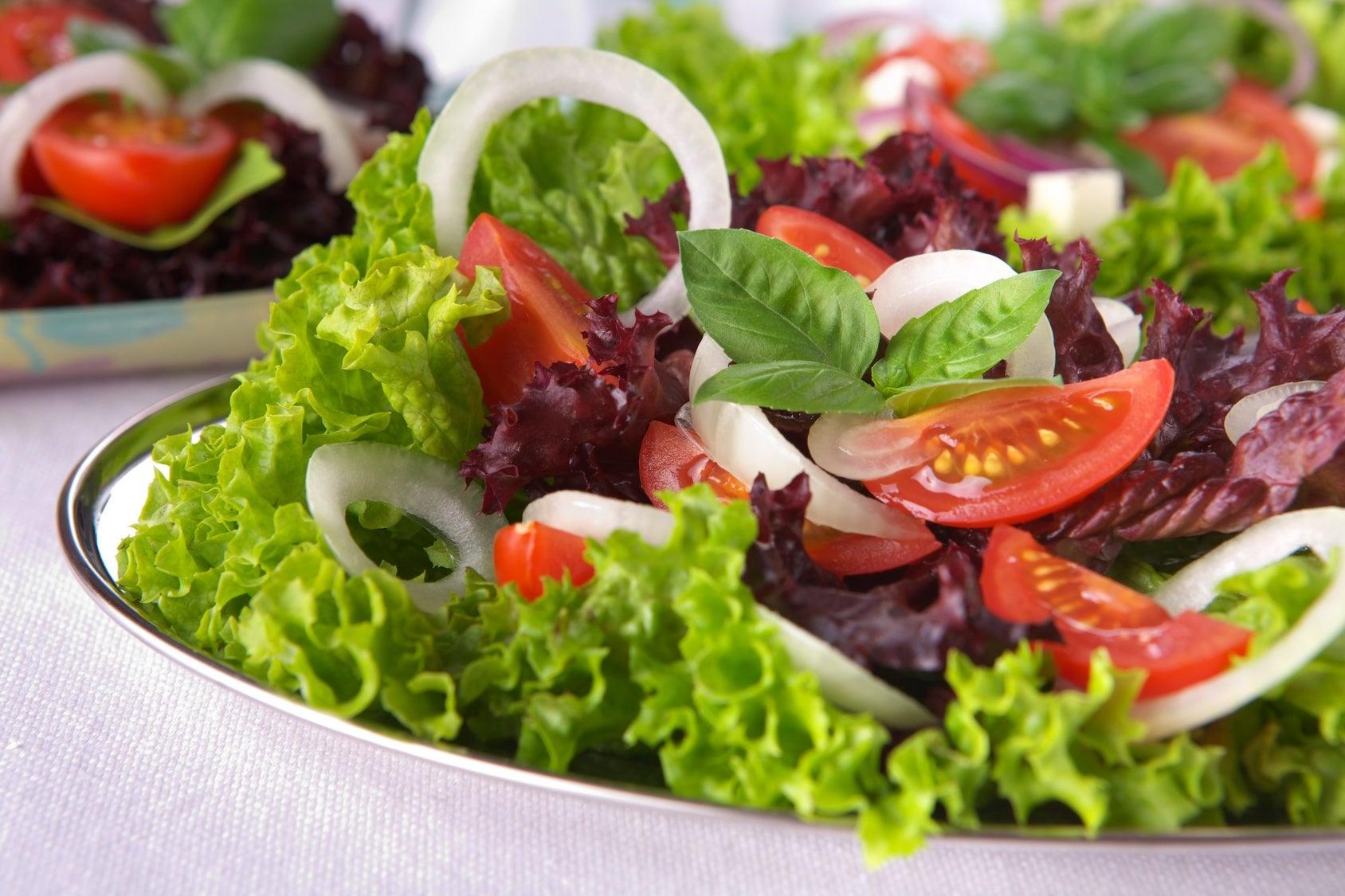 Ingredientes de ensaladas para bajar de peso