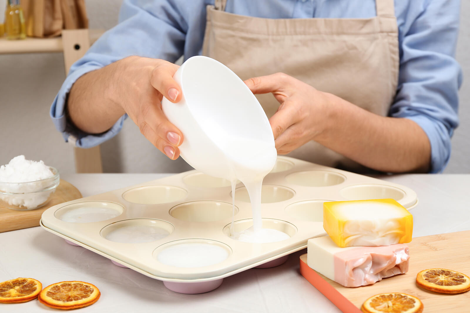 Preparación del jabón de glicerina.