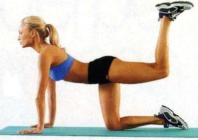 ejercicios para cintura elevación de piernas