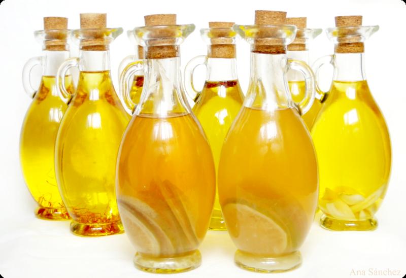 Aceite aromatizado de ajo y limón