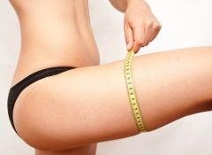 adelgazar midiendo pierna