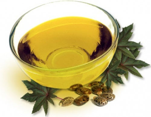 A bowl of castor oil.