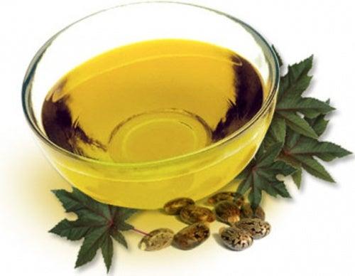 A bowl of castor oil.