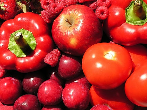Alimentos de color rojo.