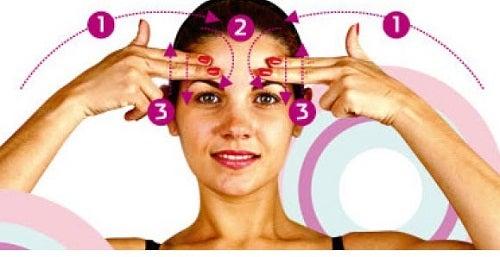 Automasaje facial para tonificar tu rostro