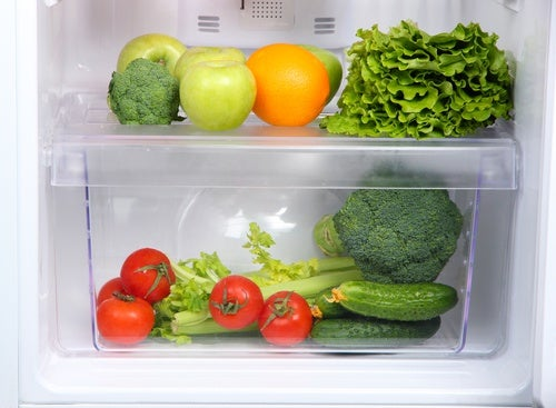 Alimentos en el refrigerador