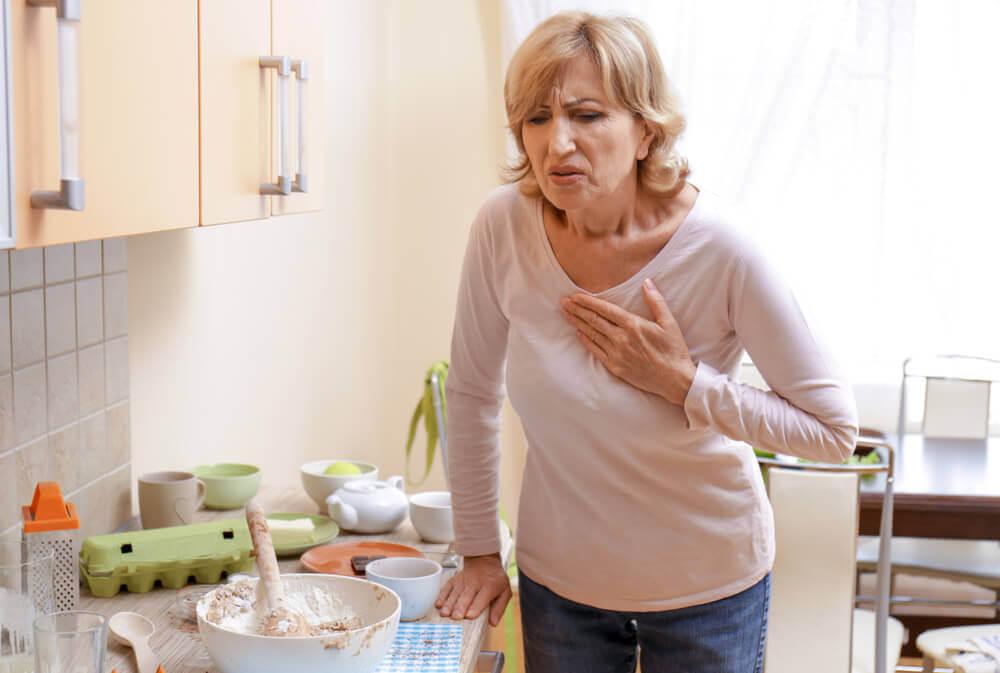 El dolor es uno de los síntomas de un infarto