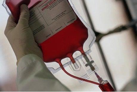 Bolsa con sangre.