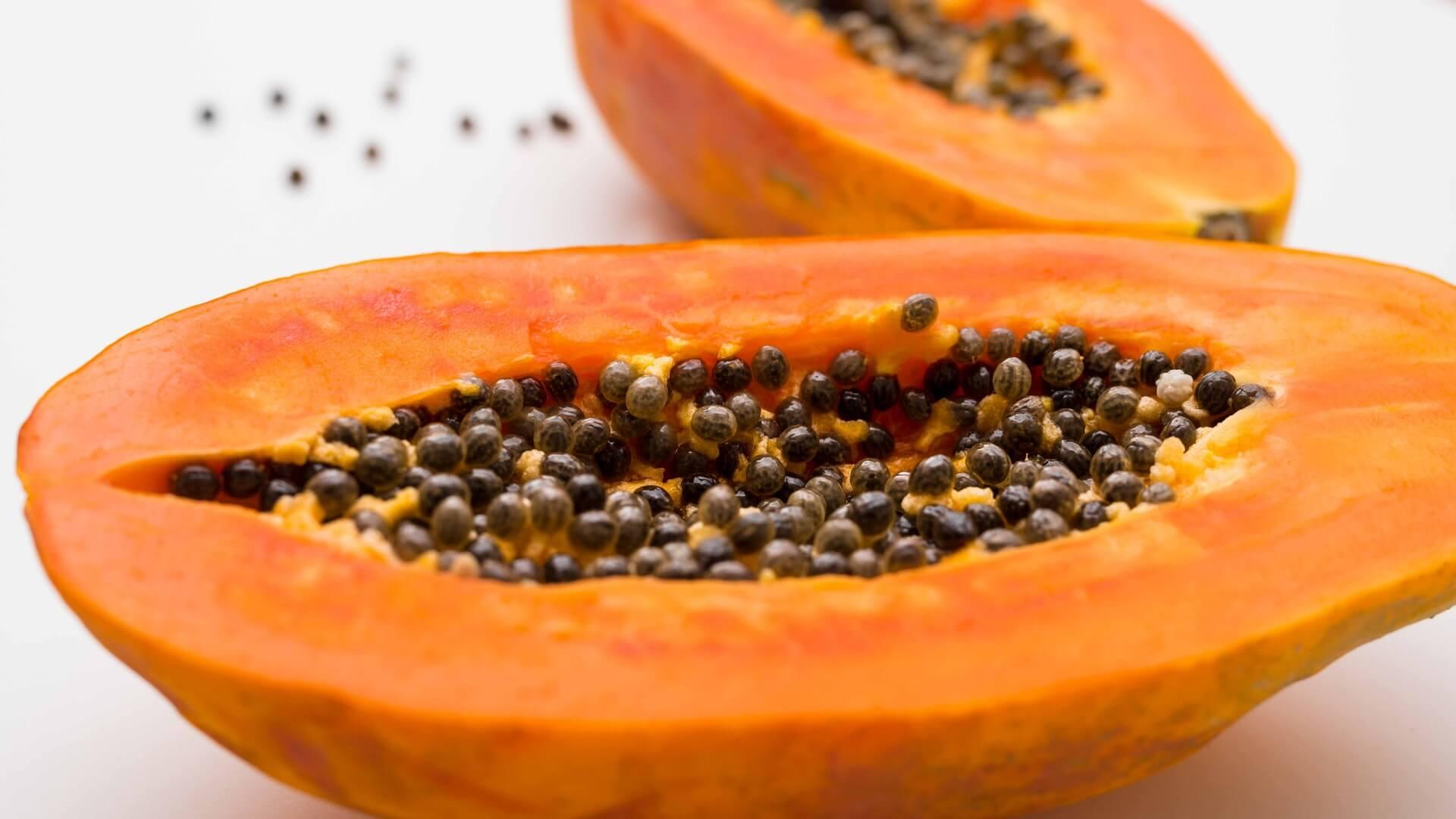 Fruta de papaya.