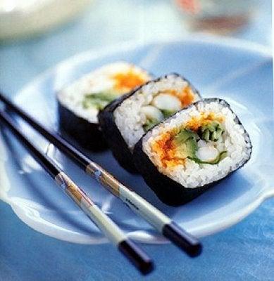 Sushi, plato de la dieta japonesa
