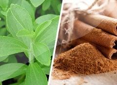 Canela y stevia