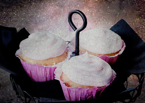 Cupcakes con una capa de azúcar