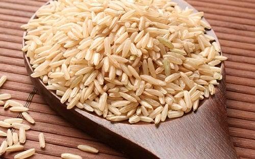 Agua de arroz integral